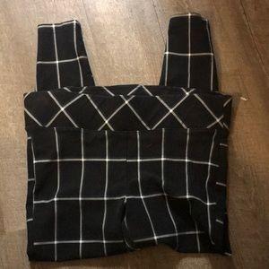 2x torrid pixie black plaid legging